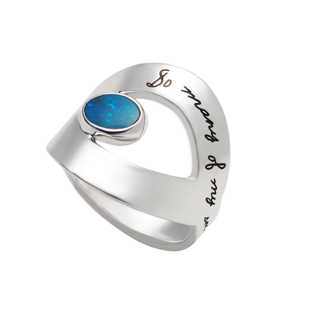 Affordable Silver Engagement Rings with Blue Stones--Starting at $95!