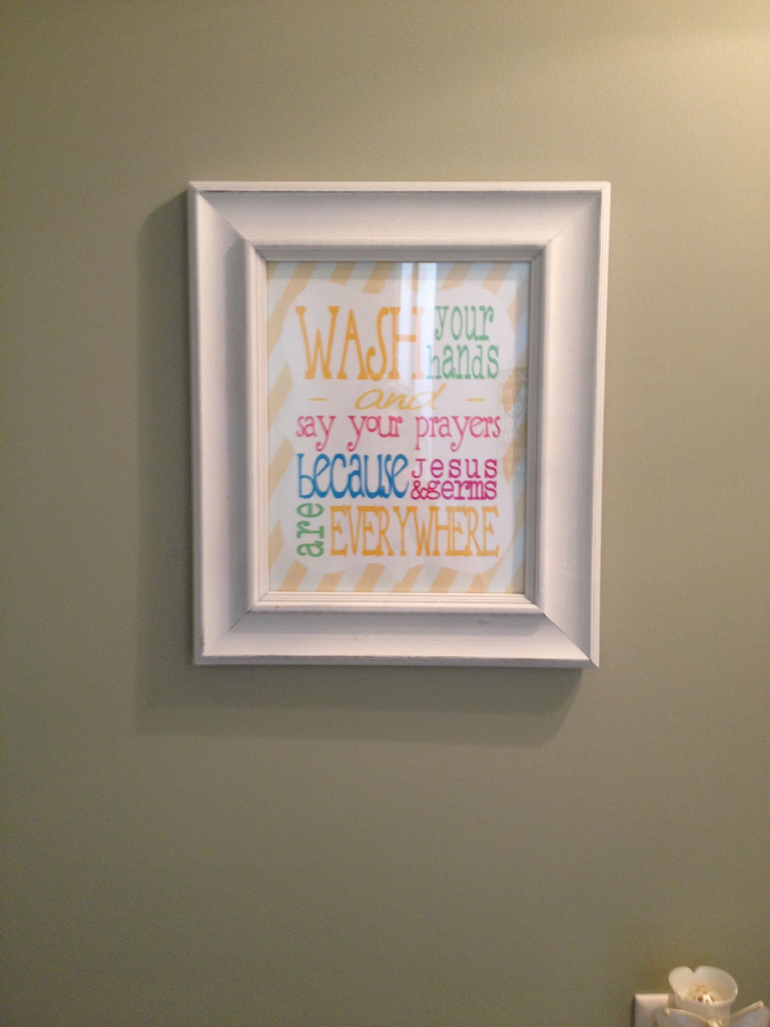 Esty, love this for my powder room.