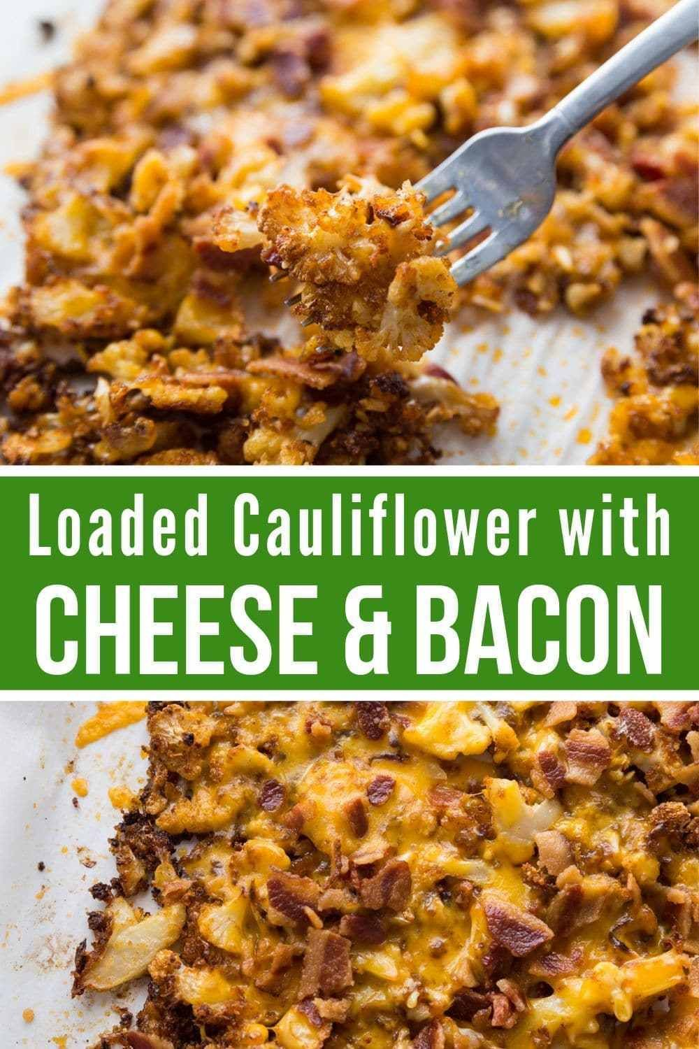 Photo of Low Carb Roasted Cauliflower Recipe w/ Bacon & Cheese