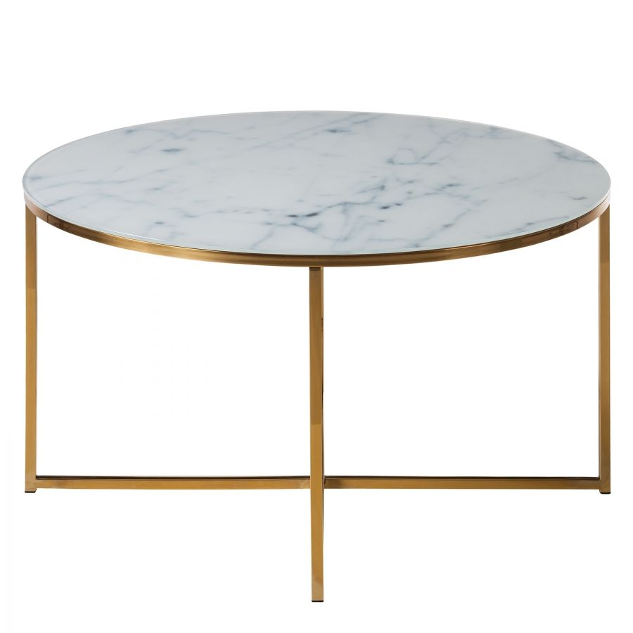 Table Metal Blanc Table Basse Katori I Verre Métal Blanc Doré In 2019