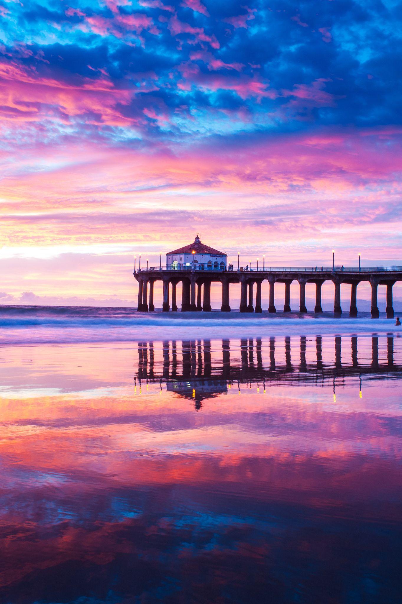 Manhattan Beach Pier Reflections No. 1 By Thomas Sebourn