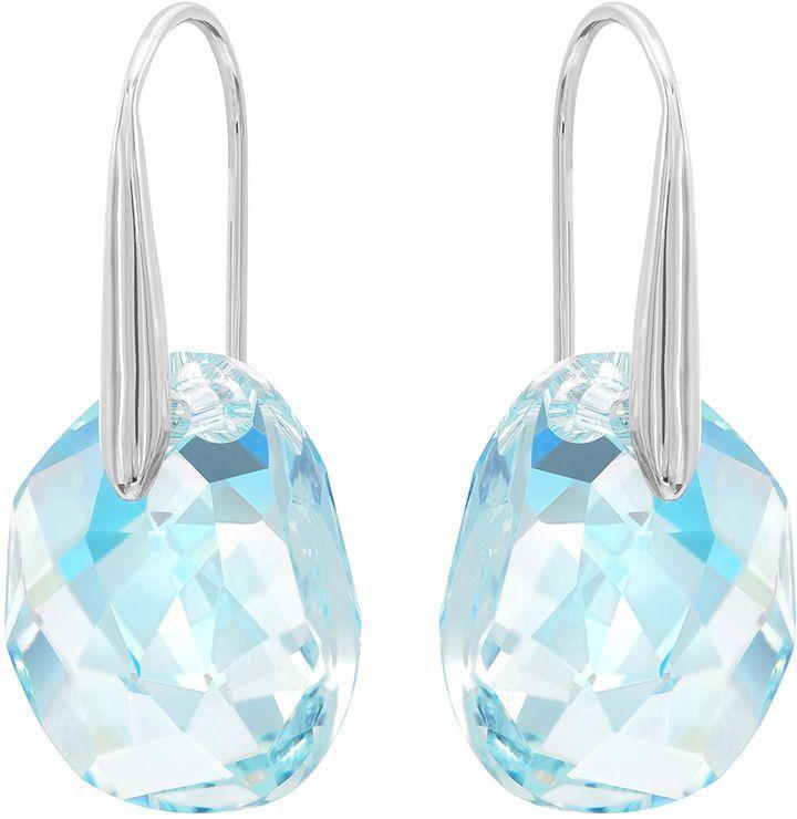 7341ae946 Swarovski Galet Pierced Earrings, Blue, Rhodium Plating | Shop the ...