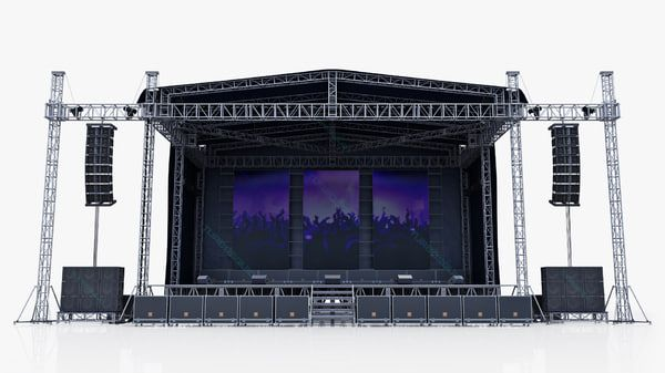 3d Model Concert Scene V2 Scene Design Concert Stage Design Scene