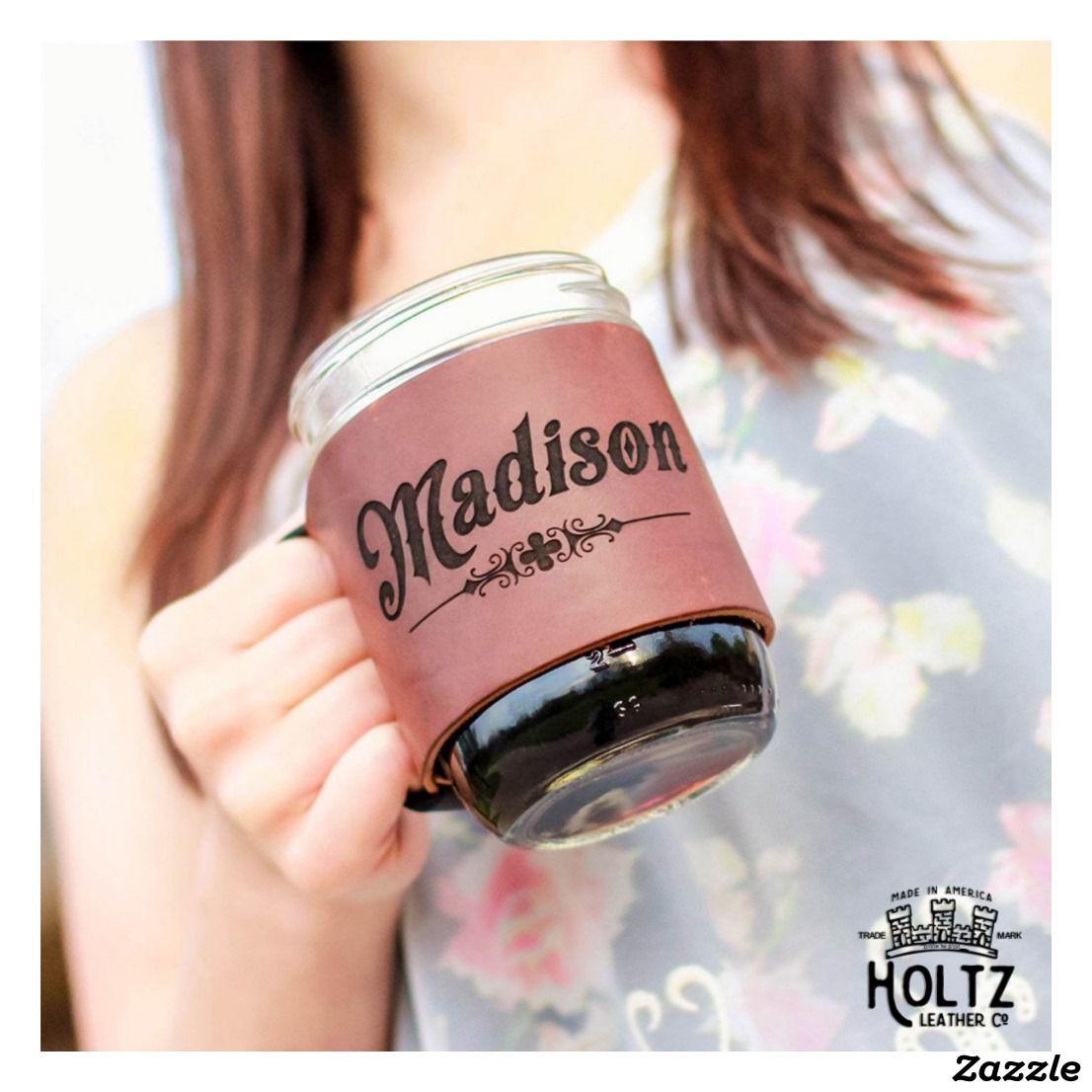 Bootlegger Brown Leather Custom Mason Jar Wrap | Home Decor and ...