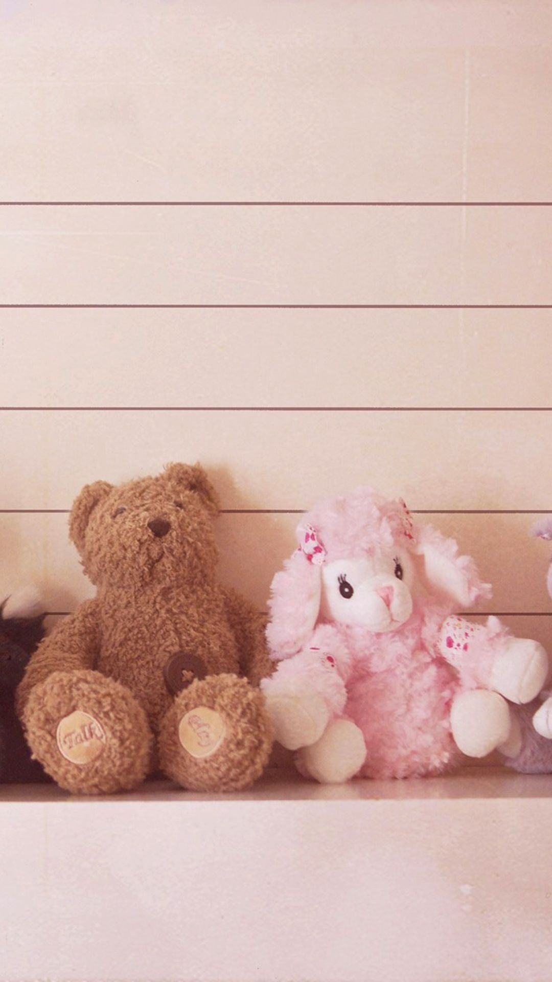 Cute Teddy Bear Couple Iphone Android Mobile Wallpaper