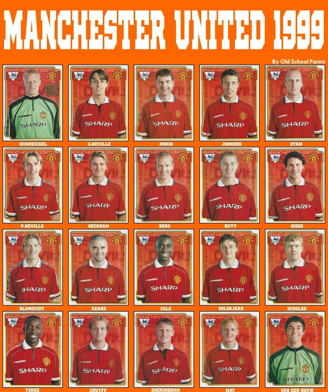 Old School Panini Manchester Utd Vs Bayern Munchen In 1999 Manchester United Legends Manchester United Team Manchester United