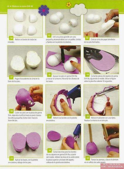 Revistas De Manualidades Gratis Revista Muñecos En Goma Eva 3d Bambole Di Pezza Fatte A Mano Bamboline Bambole Di Pezza
