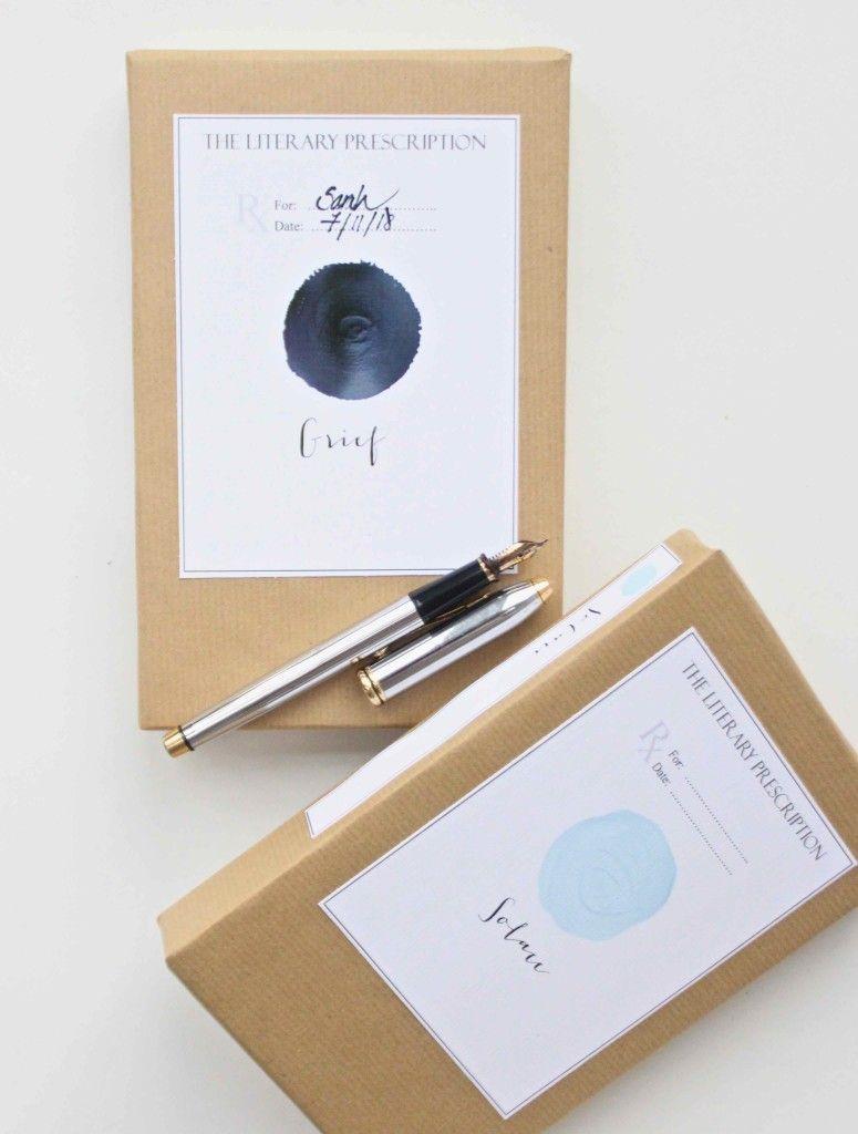 A Literary Prescription Prescription Gifts How To Make