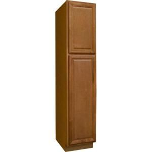 Best Hampton Bay 18X84X24 In Cambria Pantry Cabinet In Harvest 640 x 480