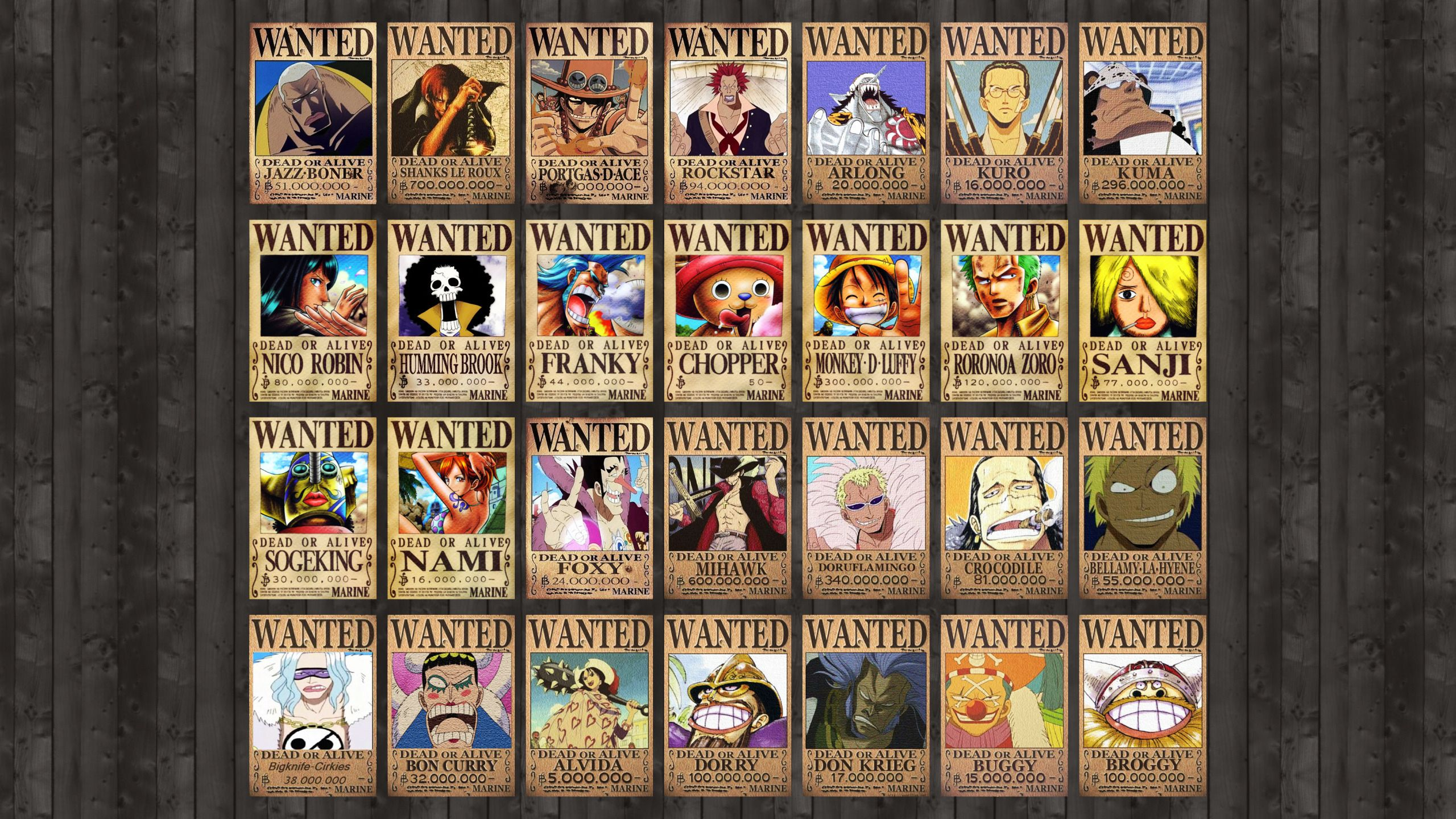 One Piece Wanted Posters Desktop WallPaper HD - http://imashon.com/w/one-piece-wanted-posters-desktop-wallpaper-hd.html