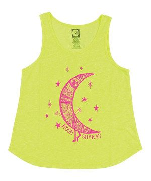 Look what I found on #zulily! Yellow & Pink Moon Shakas Tank by Billabong #zulilyfinds
