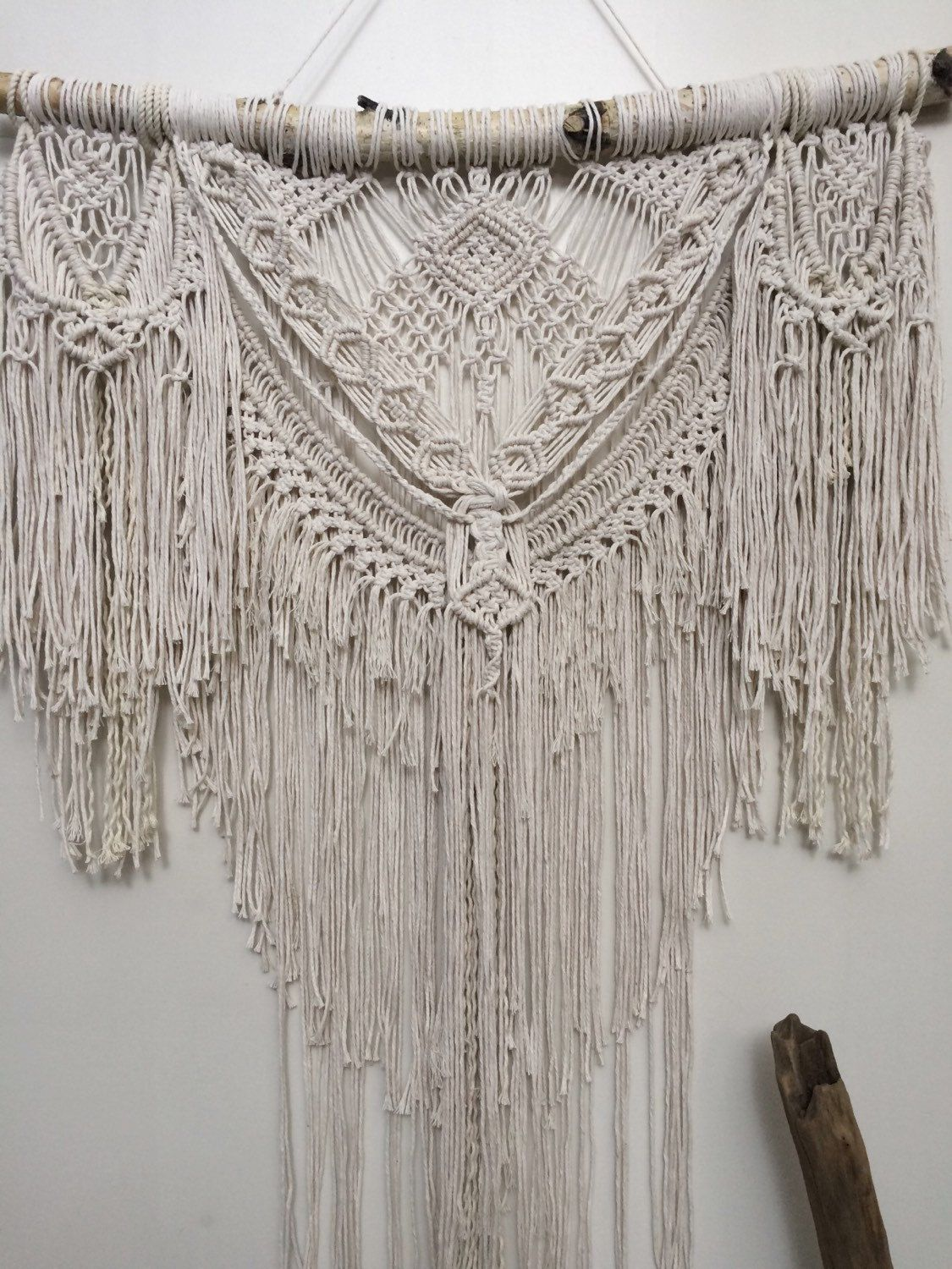 this large boho macrame wall hanging will transform your on macrame wall hanging id=85315