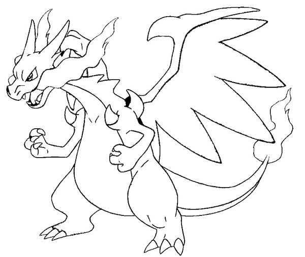Pokemon coloring pages charizard picture 3 art - Dracaufeu coloriage ...