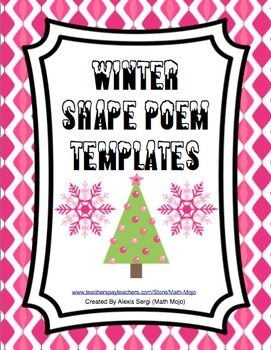 Winter shape poems your students will love making these shape winter shape poems your students will love making these shape poems free shape poem templates maxwellsz