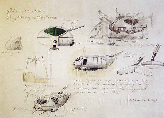 Concept Sketch By Michael Trim For Jeff Wayne S The War Of The Worlds Album War Of The Worlds Sketches War
