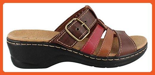 Women's Clarks, Lexi Alloy comfortable Slide Sandals TAN 6.5