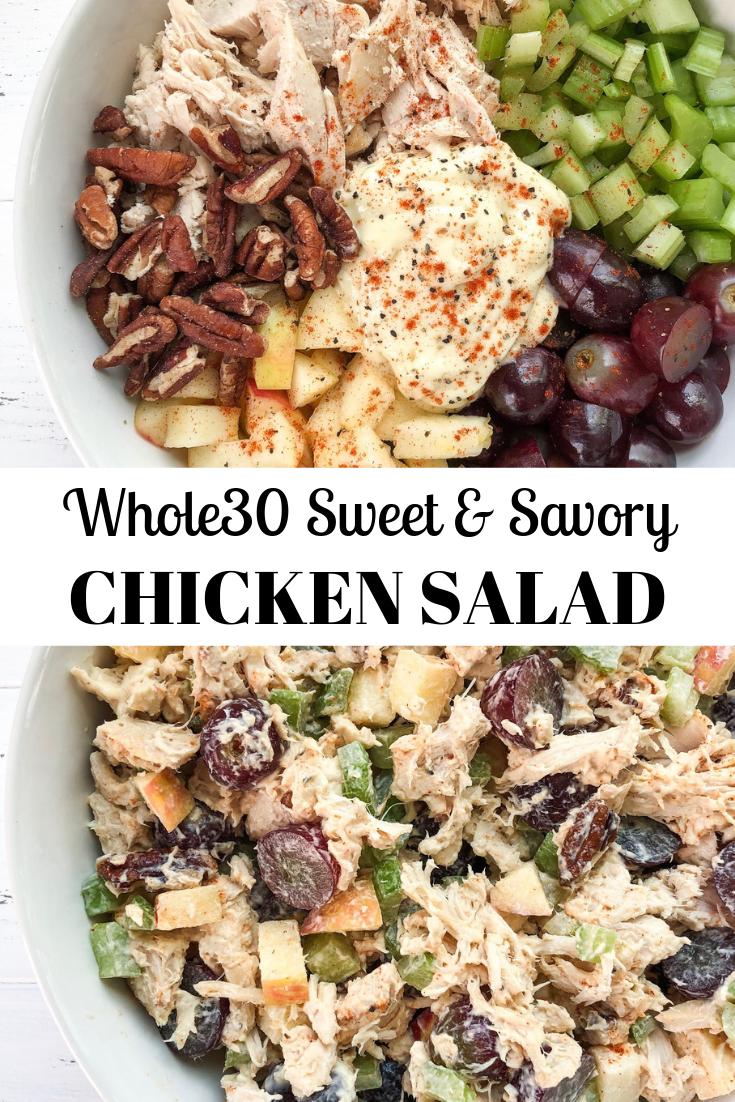 Photo of Sweet & Savory Chicken Salad {Whole30}