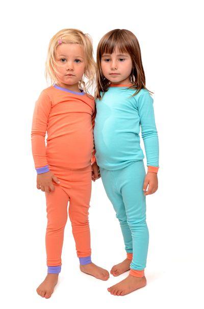 Childrens 100/% merino wool thermal base layer youth kids girls boys teen pyjama