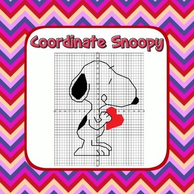 Snoopy Valentine S Day Math Coordinate Grid Picture Your Kids Will Love Plotting Points In All 4 Quadrants Coordinate Graphing Graphing Fun Coordinate Grid Valentine day coordinate graphing worksheets