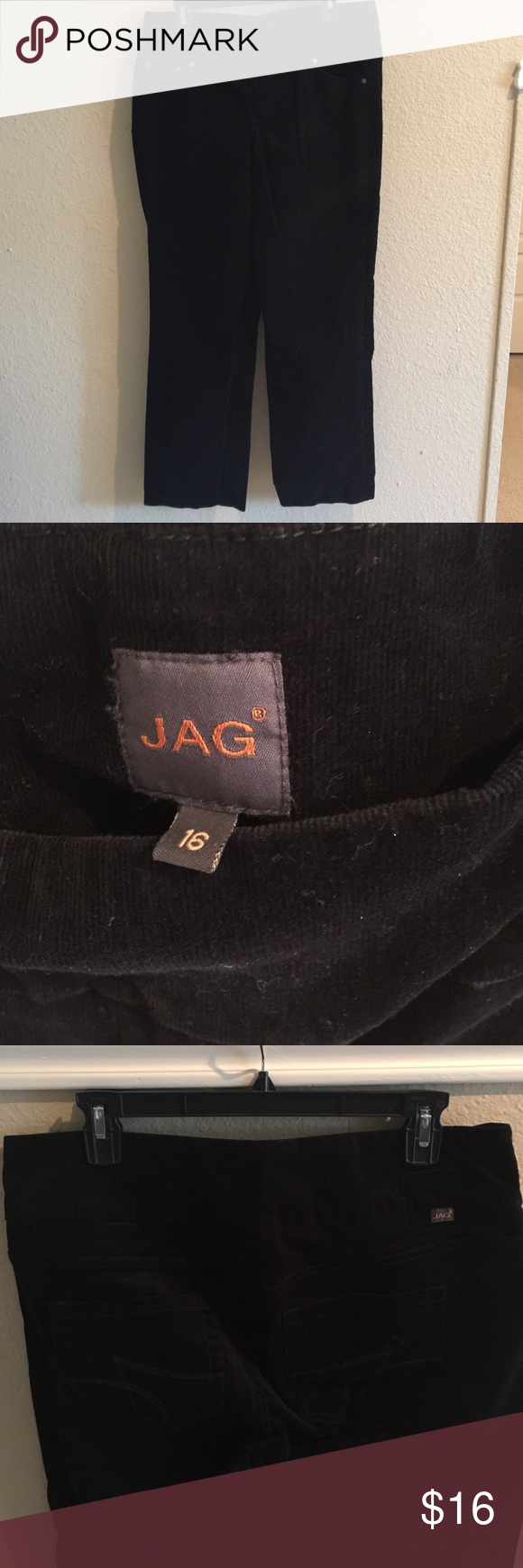 """Jag Pull-On Corduroy Pants Sz 16. As comfortable as yoga pants! You will love these corduroy pants from Jag! Straight leg. 30"""" inseam. Jag Jeans Pants Straight Leg"""