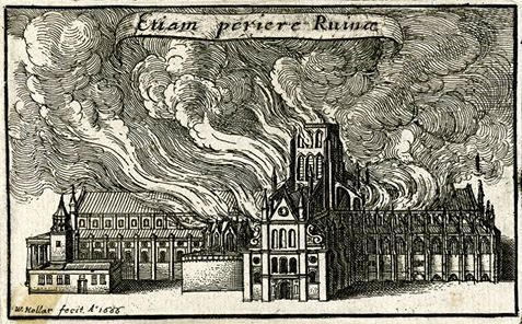 The Great Fire of London started this day in 1666,British Museum's photo.