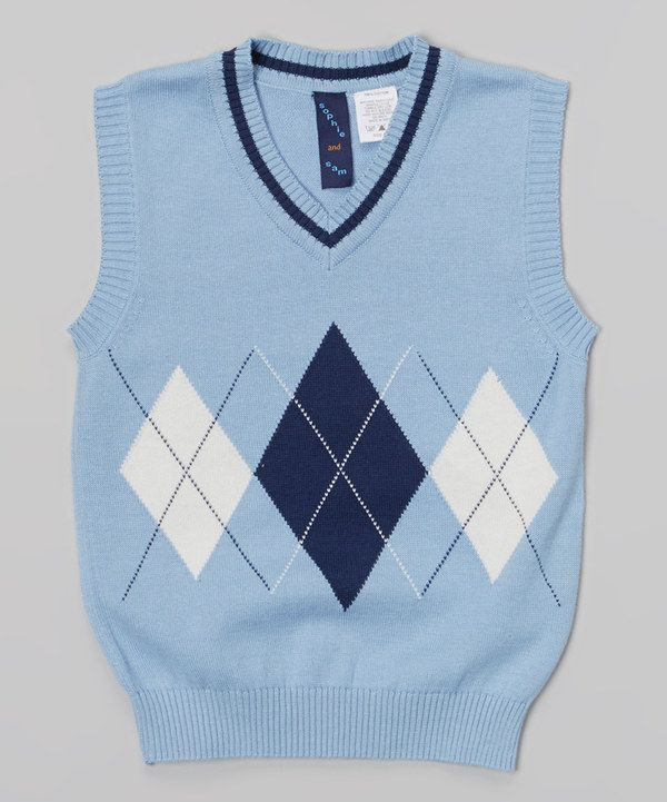 Love this Light Blue Argyle Sweater Vest - Infant, Toddler & Boys ...