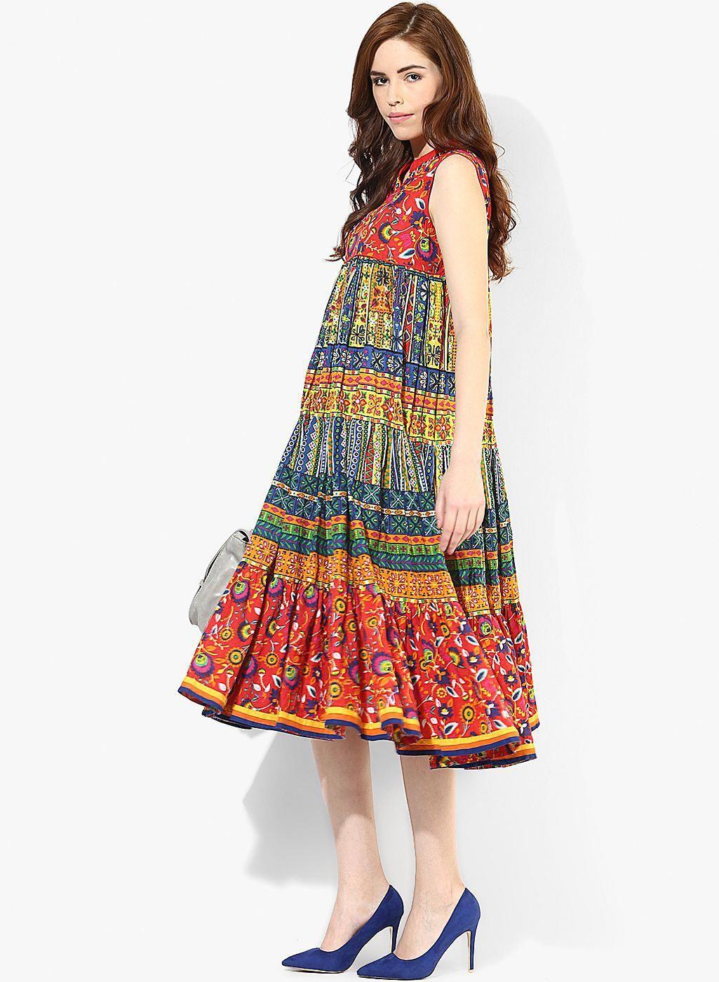 0ba19ba4f0 Buy Sangria Maxi Length Tier Sleeveless Dress for Women Online India, Best  Prices, Reviews | SA038WA29HECINDFAS #WomenClothingBrands