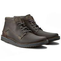New Clarks Remsen Hi Men's Gray Leather Ankle Boots