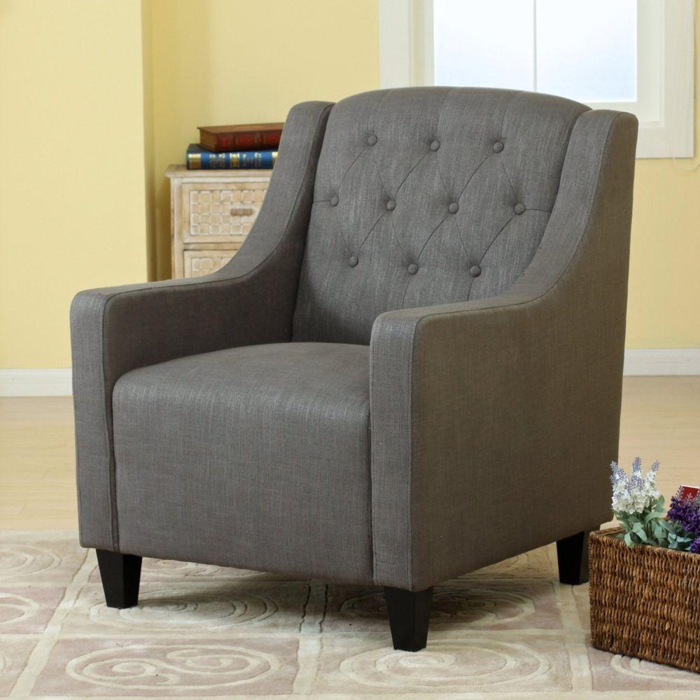 Canberra Grey Fabric ArmChair U0026 FootStool Lounge Arm Tub Chair Sofa