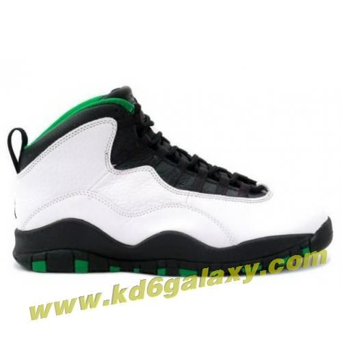 new product d5783 08a04 Air Jordan 10 Seattle Super Sonics Edition white black kelly green yellow  gold