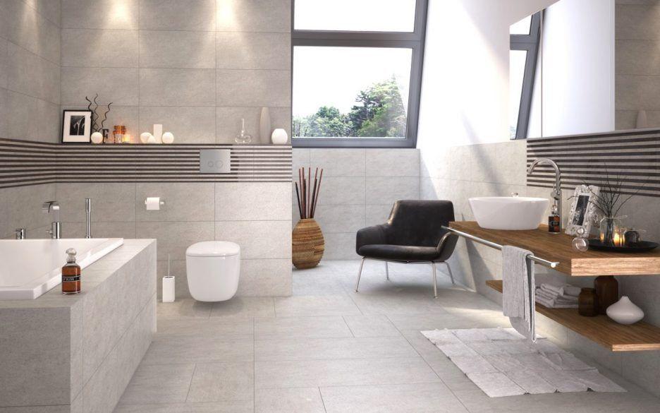 Exceptional Moderne Deko Für Badezimmer #6: Modernes Bad Weiss Beige 12  Kleines Grau Badezimmer