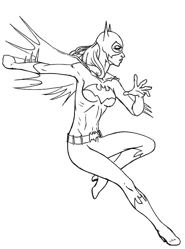 Batgirl Strong Punch Coloring Pages Best Place To Color Coloring Pages Batgirl Strong Punch