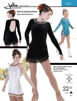 Jalie Figure Skating Dress with Adjustable Ruching Costume Sewing ...