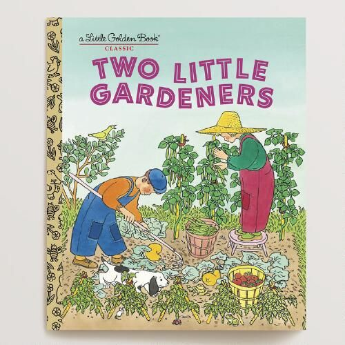 One of my favorite discoveries at WorldMarket.com: Two Little Gardeners, a Little Golden Book