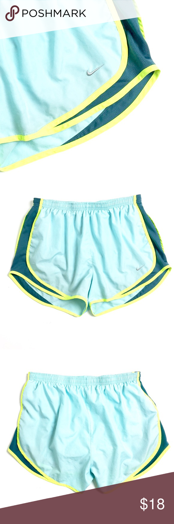 Nike Shorts Nike Dri-Fit brightly colored running shorts (or, hey, lounging around shorts!) in a size L. EUC. Retail $45. Nike Shorts