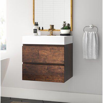 """isabela 24"""" wall-mounted single bathroom vanity set"""