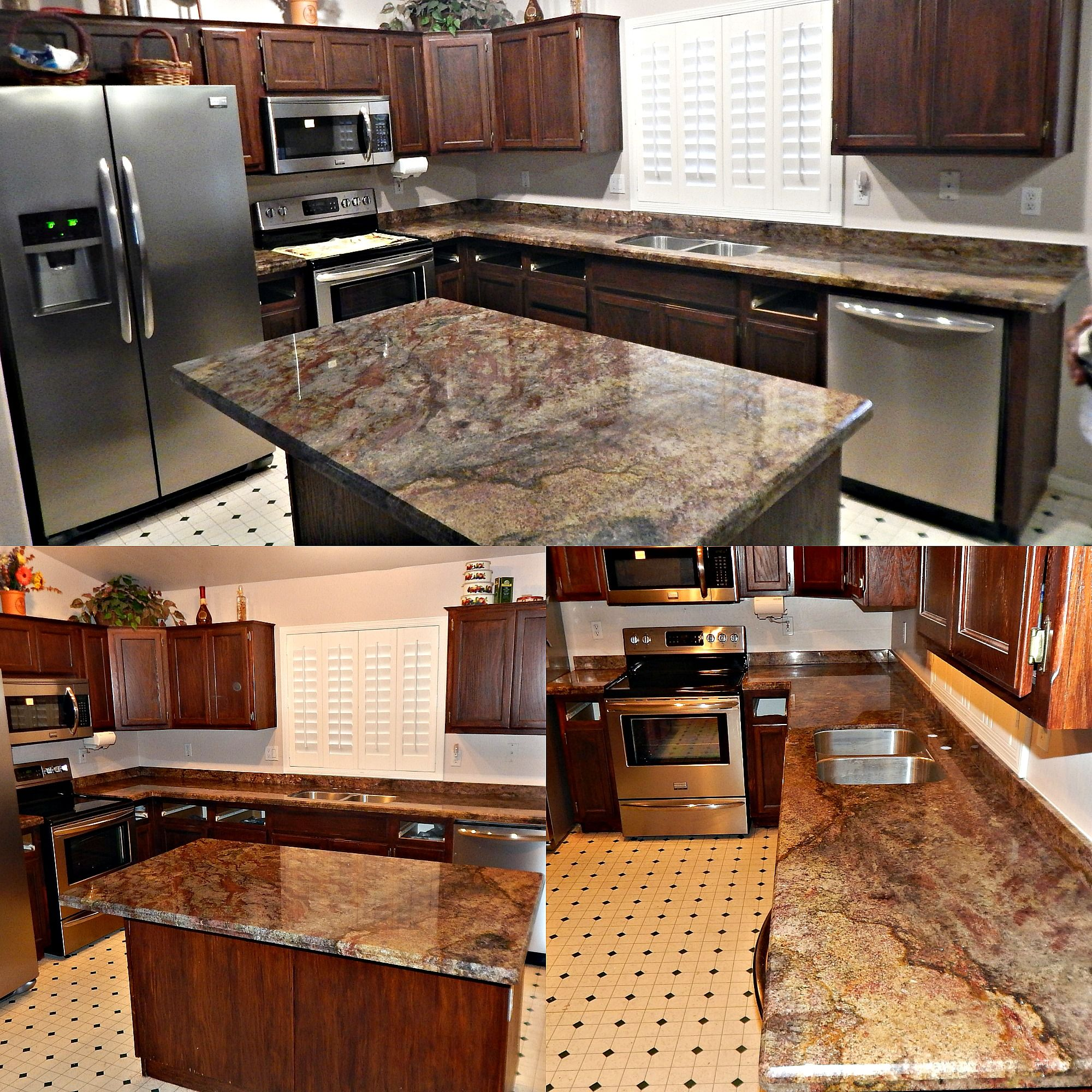 Montana Classic Granite Remodel With Bevel Edge, 50/50 Stainless Steel  Under Mount Sink