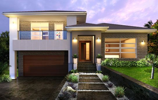 split level houses - Tristar 34.5 - Split Storey by Kurmond Homes - New Home Builders with ...