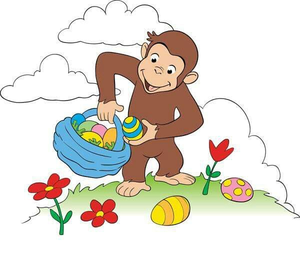 Happy Easter Curious George Easter Art Spring Painting