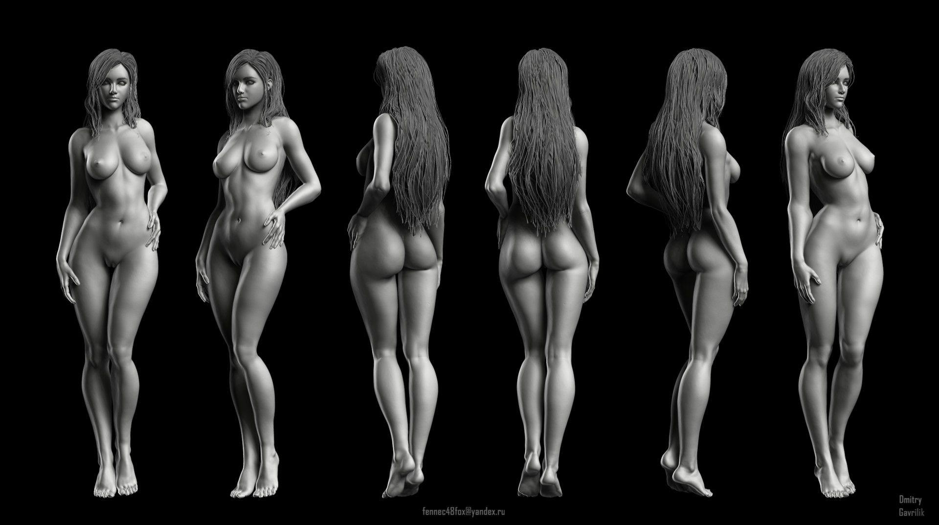 Artstation Female Anatomy Study Dmitry Gavrilik Woman Body