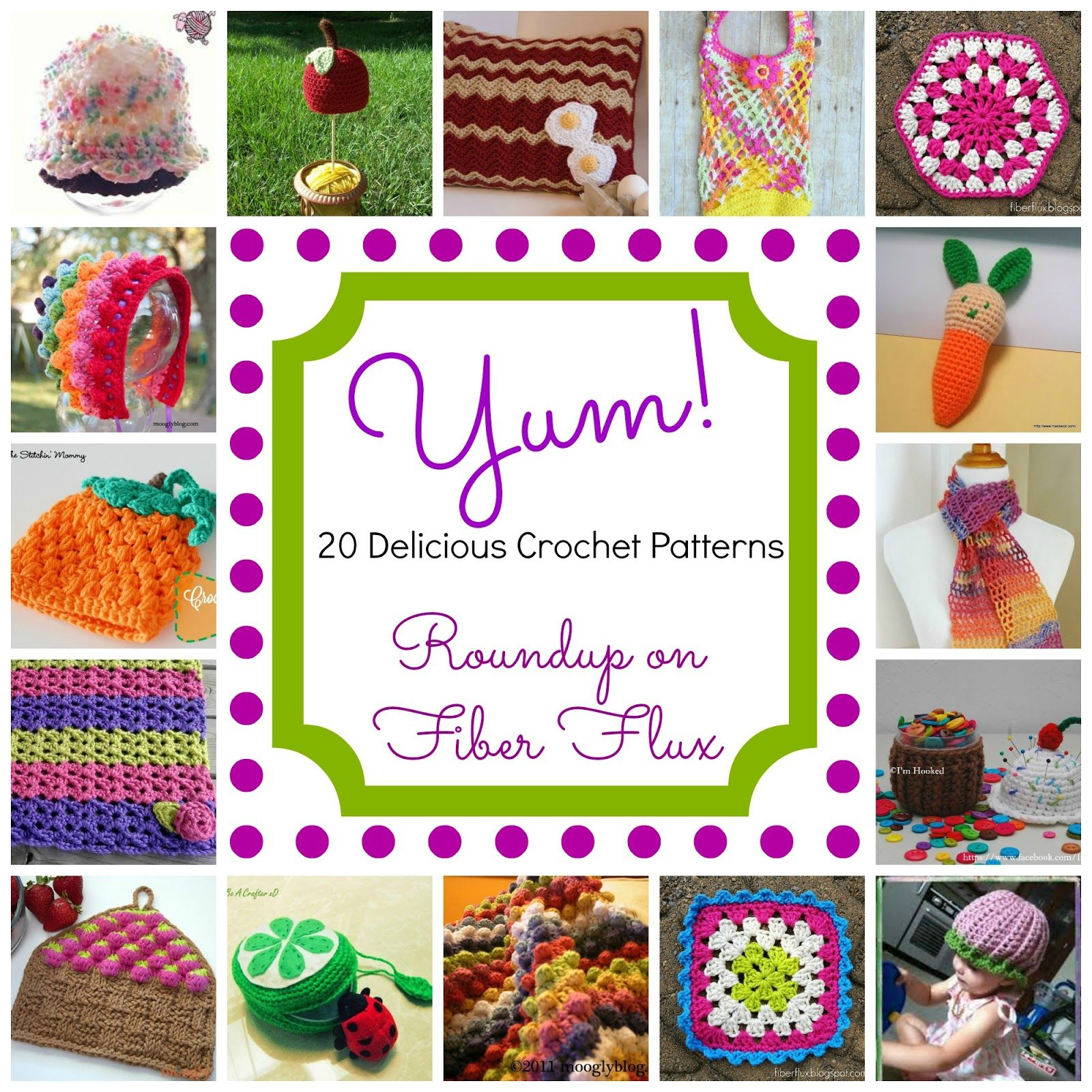 Yum! 20 Delicious Crochet Patterns, roundup on Fiber Flux | Things ...