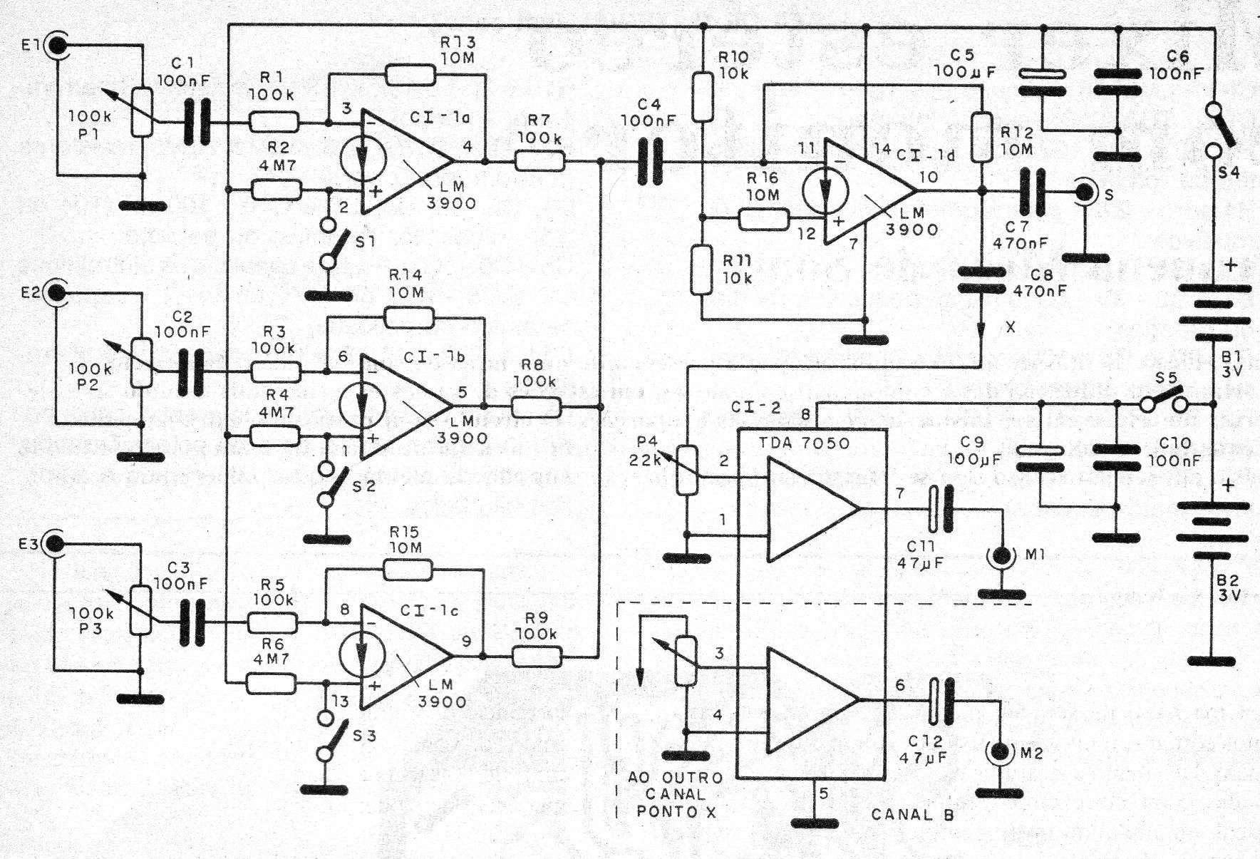 Figura 1 – Diagrama completo do mixer