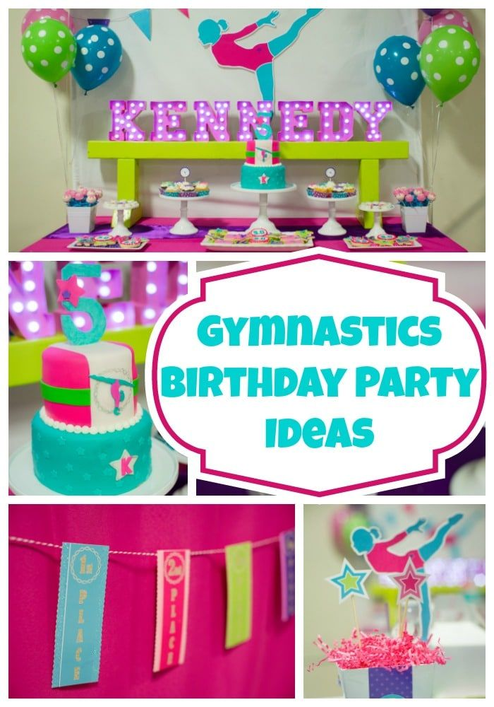 9 Gymnastics Party Ideas Gymnastics Party Gymnastics Birthday Gymnast Birthday Party