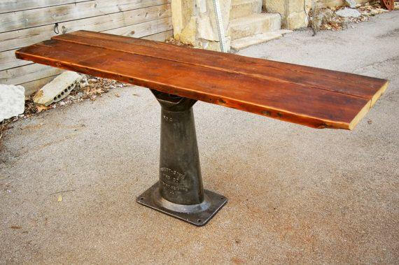 Merveilleux Iron U0026 Wood Industrial DINING / CONSOLE TABLE By Thingfulneeds, $680.00