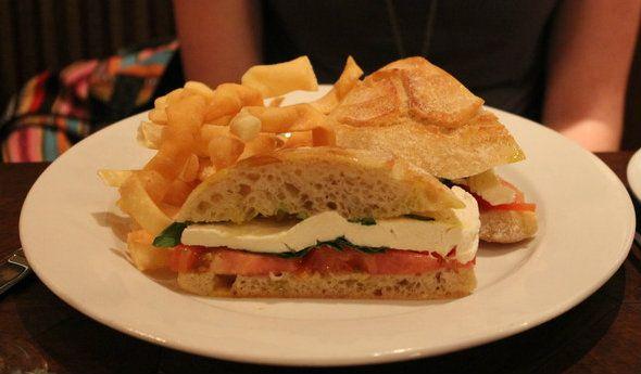 Tutto Italia ristorante    Caprese Panini - Thick-cut tomato slices, basil, Fior di Latte mozzarella, oregano, and extra virgin olive oil