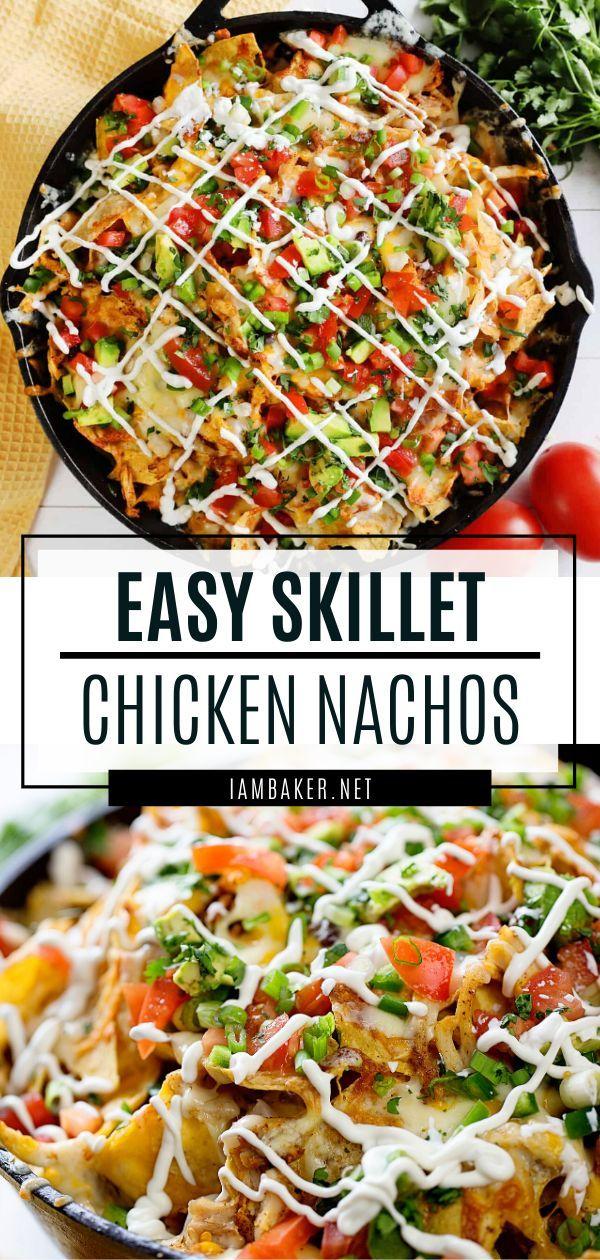 Skillet Chicken Nachos