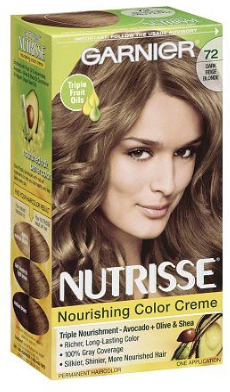 Garnier Nutrisse Haircolor Dark Beige Blonde 72 1 Ea Pack Of 4 You Can Get Additional Details At The Image Li Garnier Hair Color Hair Color Beige Blonde