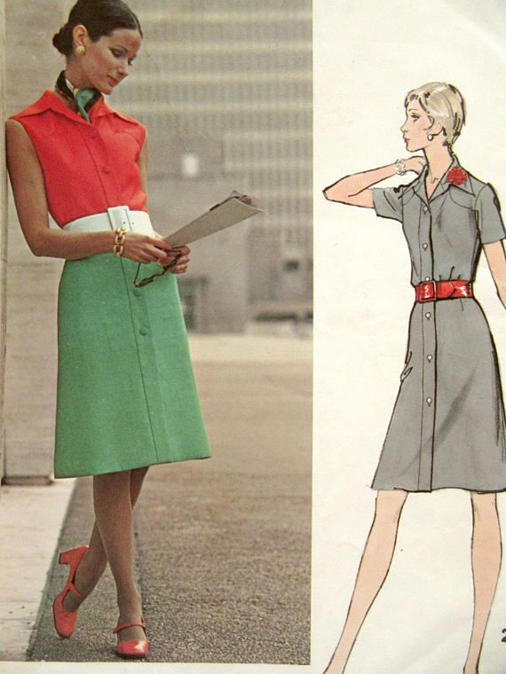 Vintage Vogue 2708 Sewing Pattern Forquet Dress Pattern | 1970s ...