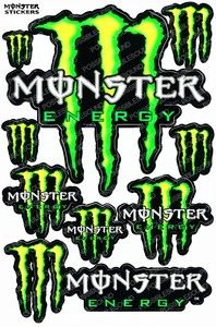 Monster Energy Rock Star Bike Atv Graphic Race Sticker Decals Car