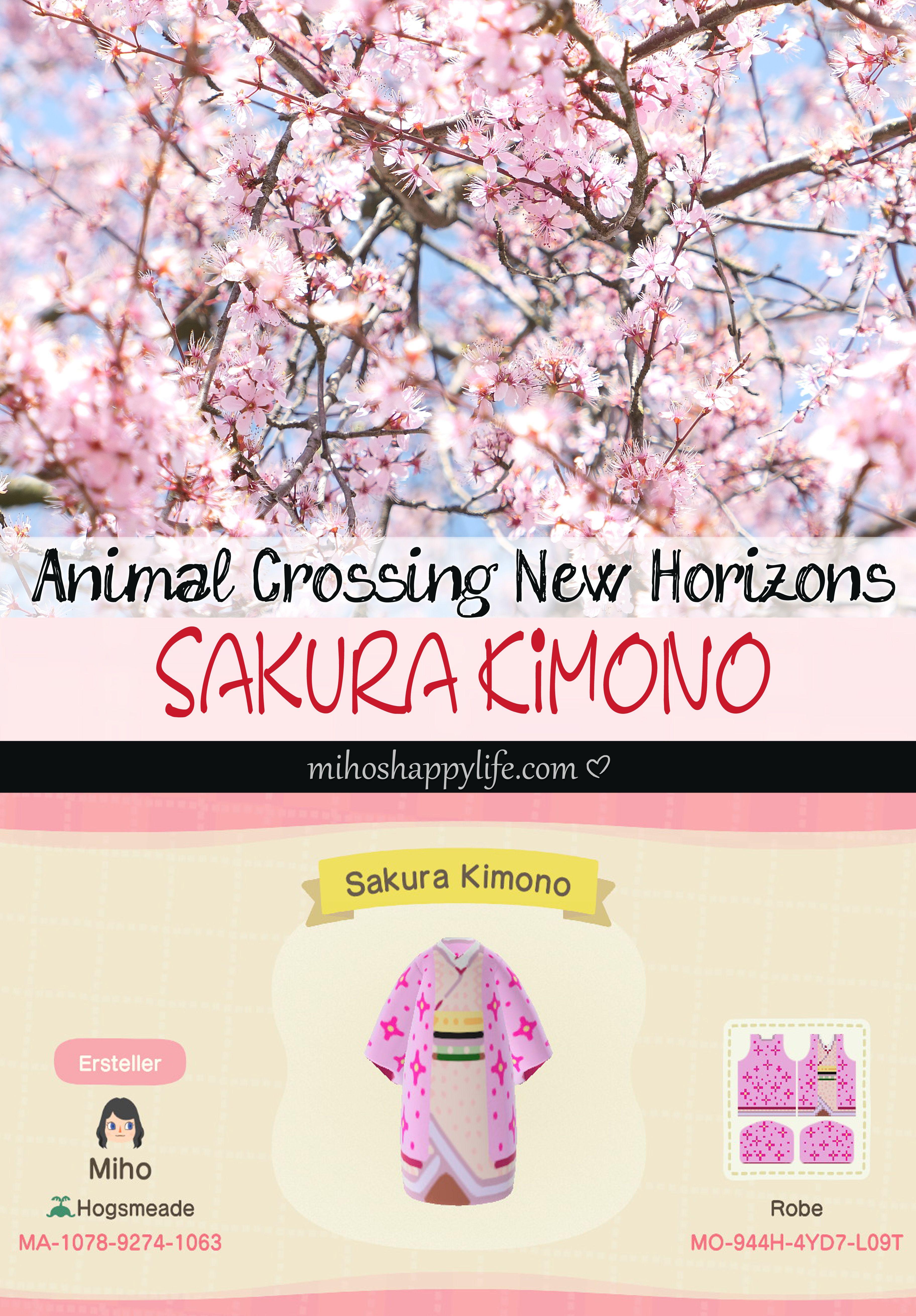 Animal Crossing New Horizons Template Design Sakura Kimono Animal Crossing Template Design Design